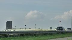 The Zeeland Bridge is the longest bridge in the Netherlands. Stock Footage