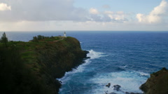 Time-lapse of the Kilauea Lighthouse on Kauai, Hawaii Stock Footage