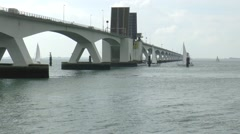 The longest bridge of Holland Stock Footage