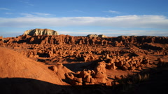 Time-lapse of clouds over Goblin Valley in Utah. Stock Footage