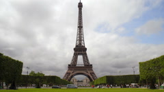 Time-lapse of the Eiffel Tower in Paris, France. Stock Footage