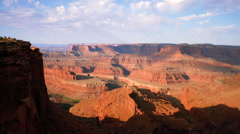 Partially shadowed canyons of Dead Horse Point in Utah. Stock Footage