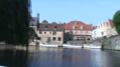Time-lapse of a canal in Brugge. Stock Footage