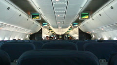 Interior of airplane. - stock footage