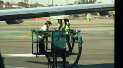 Airplane maintenance workers. Stock Footage