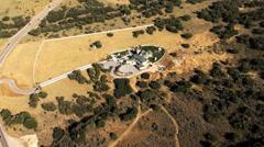 Aerial shot of deer creek house. Stock Footage