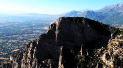 Aerial shot of Provo valley. Stock Footage