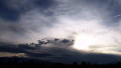 Timelapse shot of blue and grey cloudscape. Stock Footage