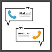 Vector background of handsets and speech bubbles Stock Illustration