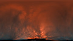 Time-lapse fisheye shot of the sunset and sky over the mountain in Utah with Stock Footage