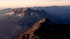 Aerial shot of mountain peaks in Utah Stock Footage