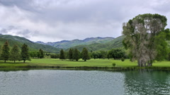 Timelapse shot of a golf course at Wasatch Mountain State Park, Utah Stock Footage