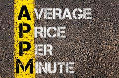 Business Acronym  APPM as Average Price Per Minute - stock photo