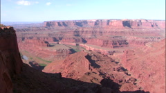 Panorama shot of Dead Horse Point near Moab, Utah. Stock Footage