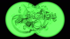 nightvision green gold jewelry with gemstones turning - stock footage
