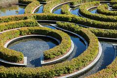 Part of wonderful garden maze during a sunny day - stock photo