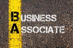 Business Acronym BA as Business Associate - stock photo