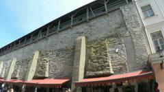 Tallinn in Estonia: city wall. Stock Footage