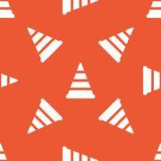 Orange traffic cone pattern - stock illustration