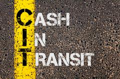 Business Acronym CIT as Cash in Transit - stock photo