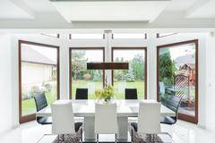 Stock Photo of Spacious dining room