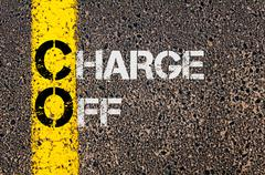 Business Acronym CO as Charge Off - stock photo