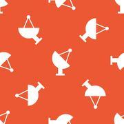 Stock Illustration of Orange satellite dish pattern