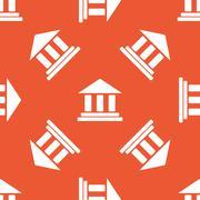 Orange museum pattern - stock illustration