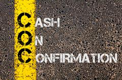 Business Acronym COC as Cash On Confirmation - stock photo