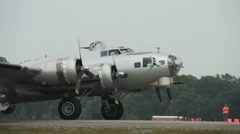 Old B-29 World War 2 bomber - stock footage