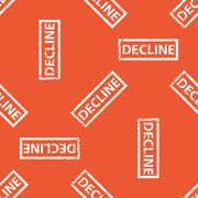 Orange DECLINE stamp pattern - stock illustration