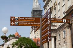 Zagreb guidepost - stock photo