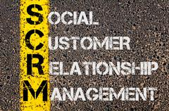Business Acronym SCRM as Social Customer Relationship Management - stock photo