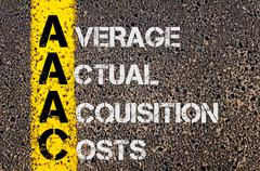 Business Acronym AAAC as Average Actual Acquisition Costs - stock photo