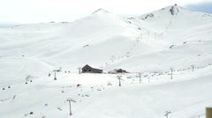 Ski Resort at the Andes Mountain Range Stock Footage