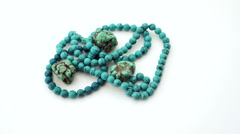 Turquoise gemstone and beads jewelry  hd Stock Footage