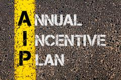 Business Acronym AIP as Annual Incentive Plan - stock photo