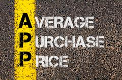 Stock Photo of Business Acronym APP as Average Purchase Price
