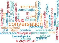 Stock Illustration of Conversation multilanguage wordcloud background concept