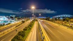 Stock Video Footage of Leof Poseidonas traffic - Athens, Greece