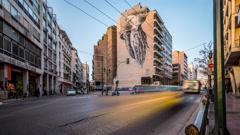 Stock Video Footage of Peiraios Street Traffic - Athens, Greece