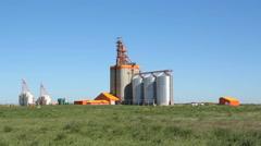 Pioneer grain elevator in Kemnay, Manitoba. - stock footage