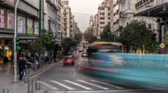 City Traffic - Athens, Greece Stock Footage