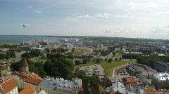 Tallinn in Estonia high angle view Stock Footage