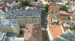 Tallinn in Estonia - High Angle Old Town Stock Footage