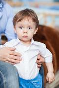 Astonished little boy Stock Photos