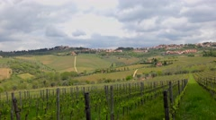 Beautiful Italian landscape in central Tuscany, in the famous Chianti wine area Stock Footage