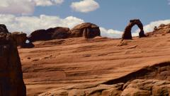 Delicate Arch Arches National Park Utah Time Lapse Stock Footage