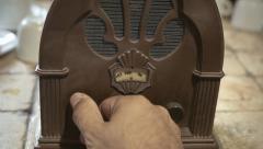 Radio old retro tuning detail Arkistovideo