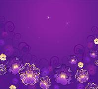 Luxurious violet Stock Illustration
